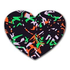 Broken Pieces Heart Mousepad by LalyLauraFLM