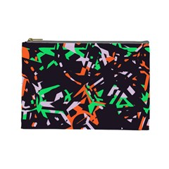 Broken Pieces Cosmetic Bag (large) by LalyLauraFLM
