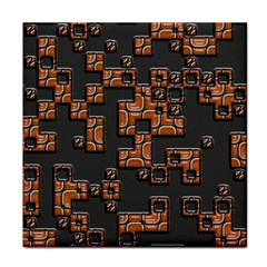 Brown Pieces Tile Coaster by LalyLauraFLM