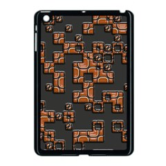Brown Pieces Apple Ipad Mini Case (black) by LalyLauraFLM