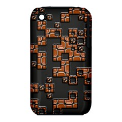 Brown Pieces Apple Iphone 3g/3gs Hardshell Case (pc+silicone) by LalyLauraFLM
