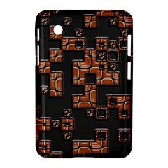 Brown Pieces Samsung Galaxy Tab 2 (7 ) P3100 Hardshell Case  by LalyLauraFLM