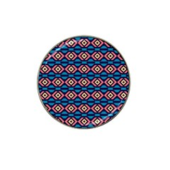 Rhombus  Pattern Hat Clip Ball Marker (4 Pack) by LalyLauraFLM