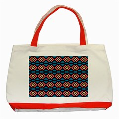 Rhombus  Pattern Classic Tote Bag (red) by LalyLauraFLM