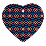 Rhombus  pattern Heart Ornament (Two Sides) Back