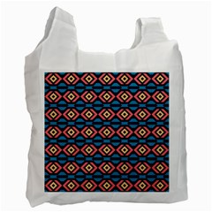 Rhombus  Pattern Recycle Bag (one Side) by LalyLauraFLM