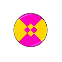 Yellow Pink Shapes Hat Clip Ball Marker (4 Pack) by LalyLauraFLM