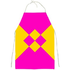 Yellow Pink Shapes Full Print Apron by LalyLauraFLM