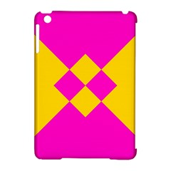 Yellow Pink Shapes Apple Ipad Mini Hardshell Case (compatible With Smart Cover) by LalyLauraFLM
