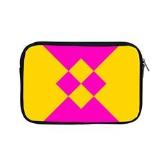 Yellow Pink Shapes Apple Ipad Mini Zipper Case by LalyLauraFLM