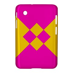Yellow Pink Shapes Samsung Galaxy Tab 2 (7 ) P3100 Hardshell Case  by LalyLauraFLM