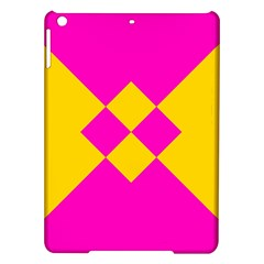 Yellow Pink Shapes Apple Ipad Air Hardshell Case by LalyLauraFLM