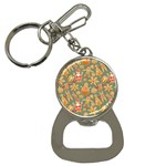 Santa and Friends Pattern Bottle Opener Key Chains Front