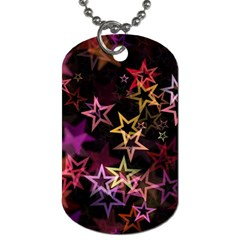 Sparkly Stars Pattern Dog Tag (two Sides) by LovelyDesigns4U
