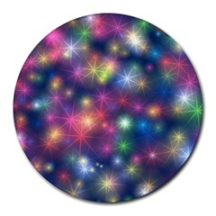 Sparkling Lights Pattern Round Mousepads by LovelyDesigns4U