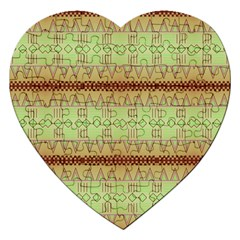 Aztec Pattern Jigsaw Puzzle (heart) by LalyLauraFLM