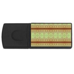 Aztec Pattern Usb Flash Drive Rectangular (4 Gb) by LalyLauraFLM