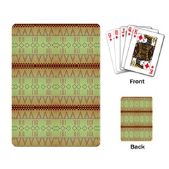 Aztec Pattern Playing Cards Single Design by LalyLauraFLM