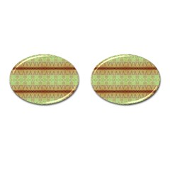 Aztec Pattern Cufflinks (oval) by LalyLauraFLM