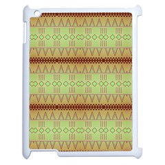 Aztec Pattern Apple Ipad 2 Case (white) by LalyLauraFLM