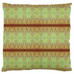 Aztec Pattern Large Cushion Case (two Sides) by LalyLauraFLM