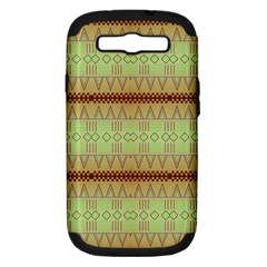 Aztec Pattern Samsung Galaxy S Iii Hardshell Case (pc+silicone) by LalyLauraFLM