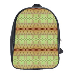 Aztec Pattern School Bag (xl) by LalyLauraFLM