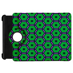 Stars In Hexagons Pattern Kindle Fire Hd Flip 360 Case by LalyLauraFLM