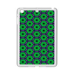Stars In Hexagons Pattern Apple Ipad Mini 2 Case (white) by LalyLauraFLM