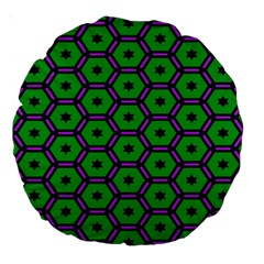 Stars In Hexagons Pattern Large 18  Premium Round Cushion  by LalyLauraFLM