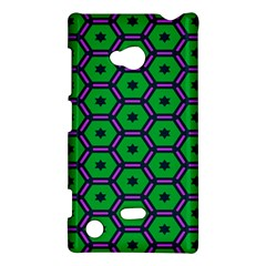Stars In Hexagons Pattern Nokia Lumia 720 Hardshell Case by LalyLauraFLM
