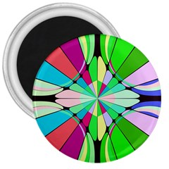Distorted Flower 3  Magnet by LalyLauraFLM