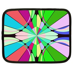 Distorted Flower Netbook Case (large) by LalyLauraFLM