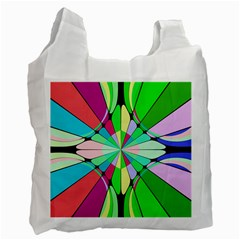 Distorted Flower Recycle Bag (one Side) by LalyLauraFLM