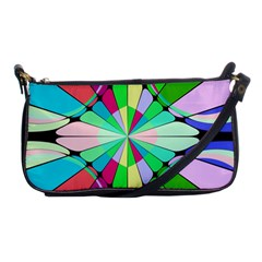 Distorted Flower Shoulder Clutch Bag by LalyLauraFLM