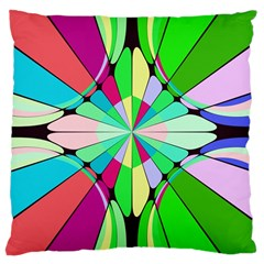 Distorted Flower Large Cushion Case (two Sides) by LalyLauraFLM
