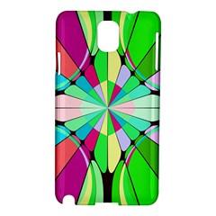 Distorted Flower Samsung Galaxy Note 3 N9005 Hardshell Case by LalyLauraFLM