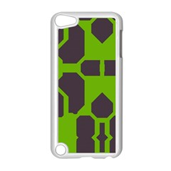 Brown Green Shapes Apple Ipod Touch 5 Case (white) by LalyLauraFLM