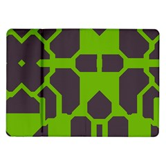 Brown Green Shapes Samsung Galaxy Tab 10 1  P7500 Flip Case by LalyLauraFLM