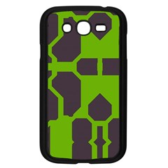 Brown Green Shapes Samsung Galaxy Grand Duos I9082 Case (black) by LalyLauraFLM