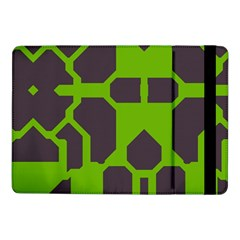 Brown Green Shapes	samsung Galaxy Tab Pro 10 1  Flip Case by LalyLauraFLM