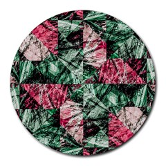 Luxury Grunge Digital Pattern Round Mousepads by dflcprints