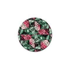 Luxury Grunge Digital Pattern Golf Ball Marker by dflcprints