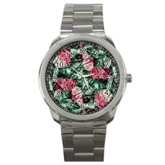 Luxury Grunge Digital Pattern Sport Metal Watches by dflcprints