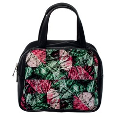 Luxury Grunge Digital Pattern Classic Handbags (one Side) by dflcprints