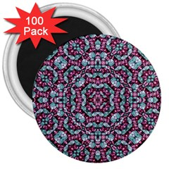 Luxury Grunge Digital Pattern 3  Magnets (100 Pack) by dflcprints