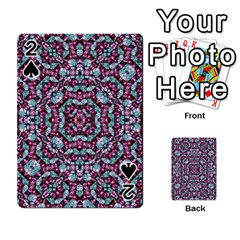 Luxury Grunge Digital Pattern Playing Cards 54 Designs  by dflcprints