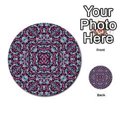 Luxury Grunge Digital Pattern Multi Purpose Cards (round)