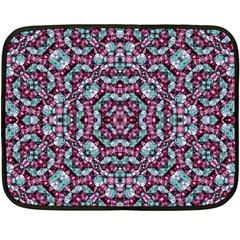 Luxury Grunge Digital Pattern Double Sided Fleece Blanket (mini)  by dflcprints
