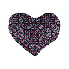 Luxury Grunge Digital Pattern Standard 16  Premium Flano Heart Shape Cushions by dflcprints